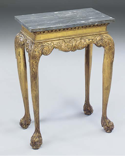 A George I giltwood side table