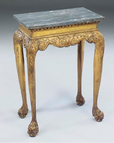 A George I giltwood side table