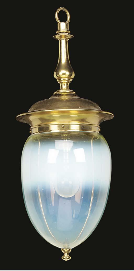 A vaseline glass and gilt meta