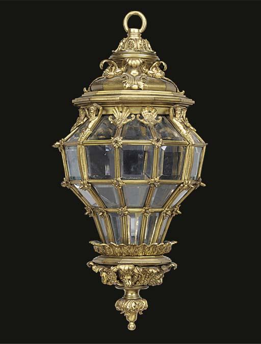 A French gilt bronze and glaze