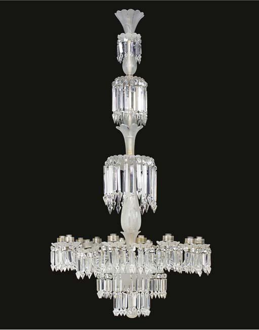 A frosted glass sixteen light