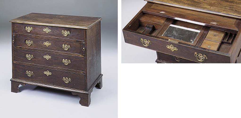 A George III mahogany dressing