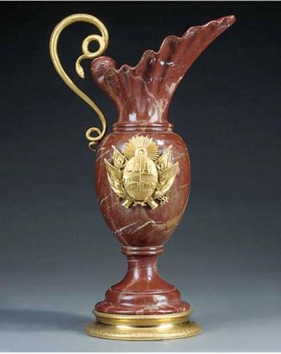 An Italian gilt bronze mounted