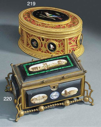An Italian gilt bronze and mic
