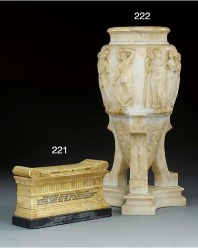 An Italian sculpted Siena marb