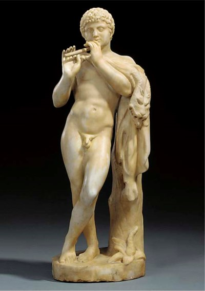 An Italian sculpted marble mod