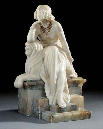A Continental sculpted alabast