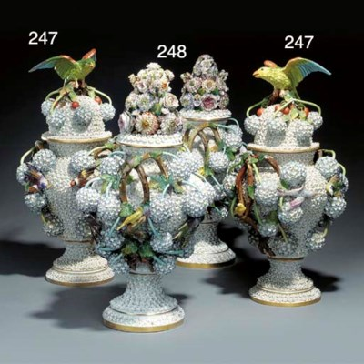 A pair of German porcelain Sch