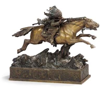 An Austrian bronze model of a