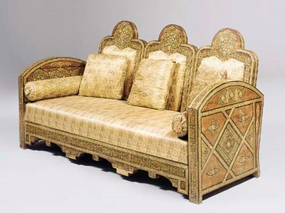 A Moorish parquetry and mother