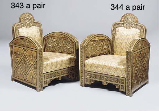 A pair of Moorish parquetry an