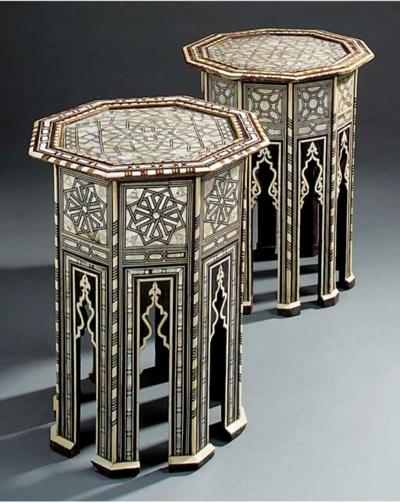 Two similar Moorish ivory, bon