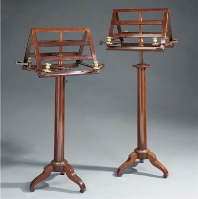 A pair of mahogany and ormolu