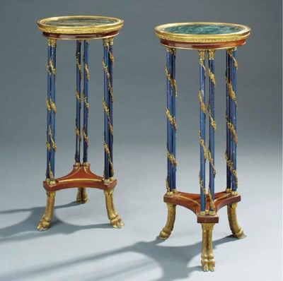 A pair of French marble, kingw