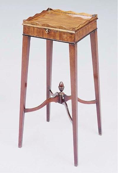 A George III mahogany urn stan
