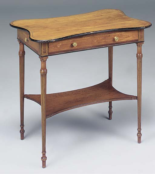 AN UNUSUAL SATINWOOD AND INLAI