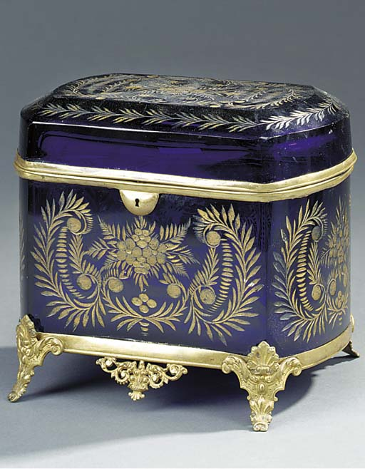 A French etched and gilt heigh