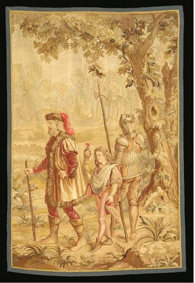 A Flemish tapestry panel