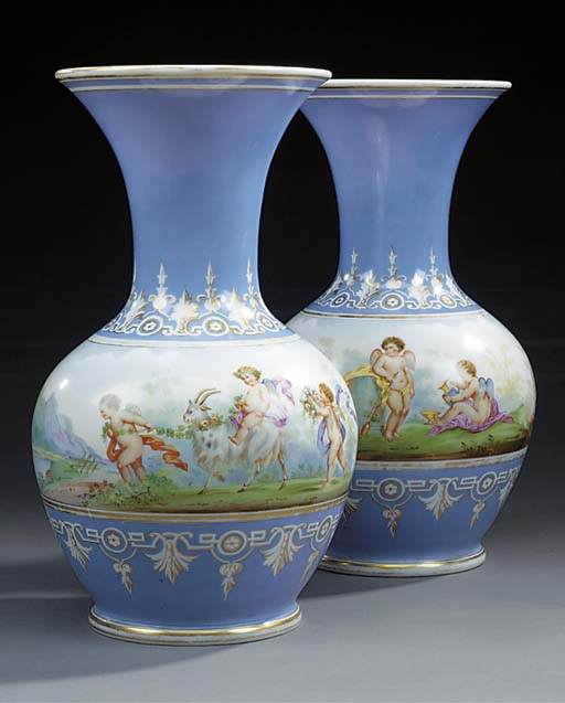 A pair of French painted and g