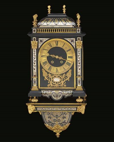 A French Boulle-work, gilt bro