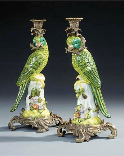 A pair of Paris porcelain and