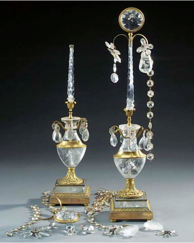 A pair of French rock crystal