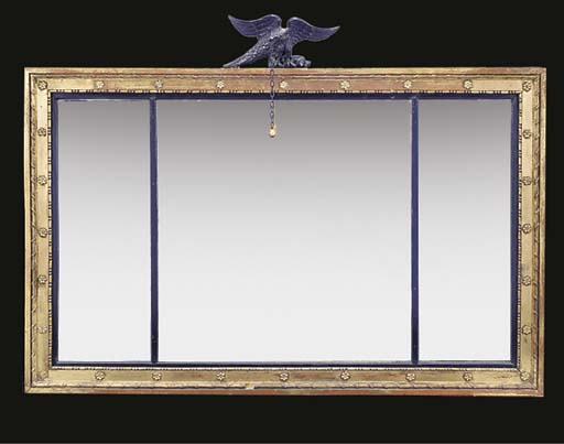 A GILTWOOD AND EBONISED OVERMA