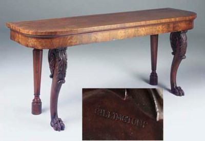 AN IRISH WILLIAM IV MAHOGANY S