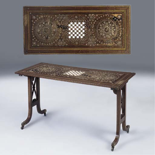 A PARQUETRY AND PARTRIDGE WOOD