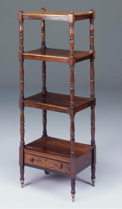 A ROSEWOOD FOUR TIER WHATNOT