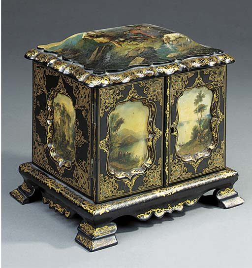 A Victorian painted and gilt h
