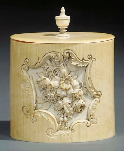 A Victorian carved ivory secti