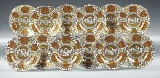 A set of twelve English painte