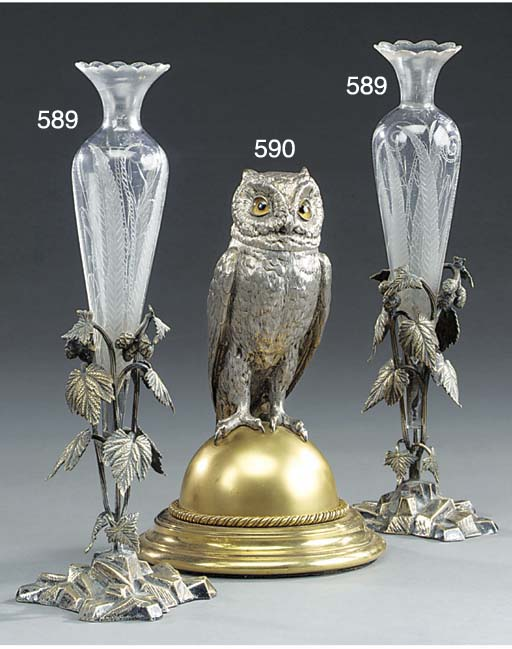 A Victorian silvered and gilt