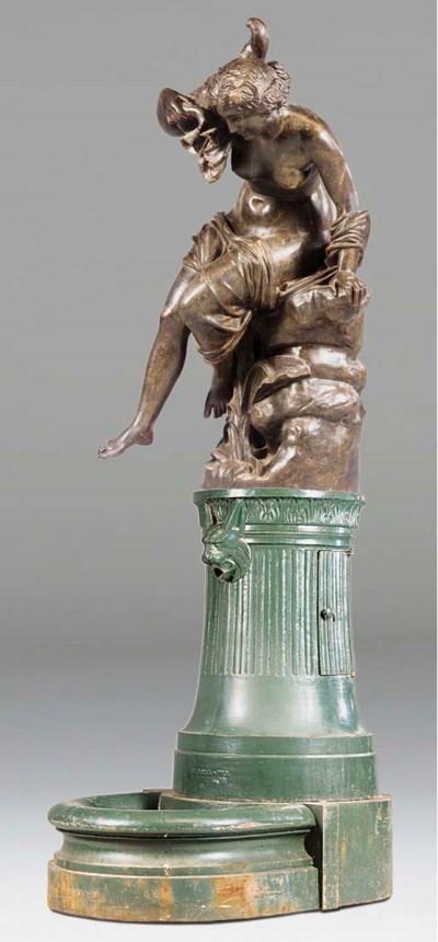A French cast iron figural gar
