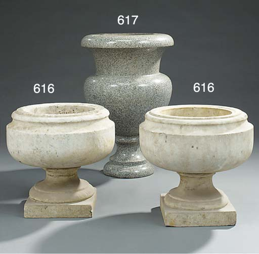 A set of four Italian sculpted