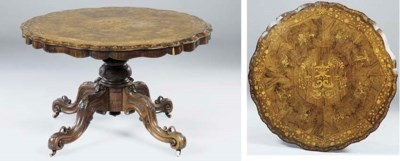 An early Victorian rosewood, w