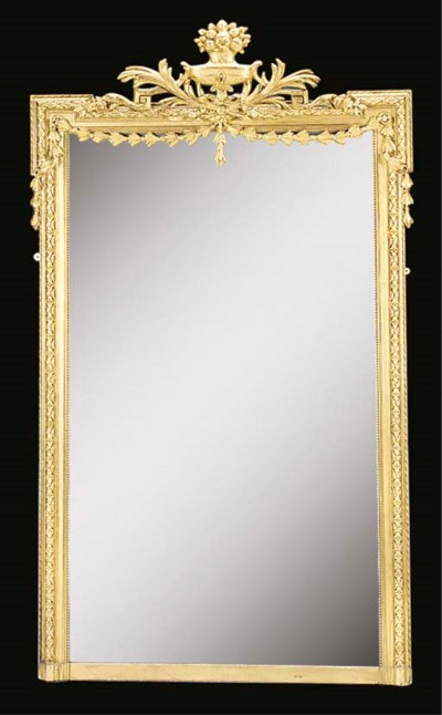 A CONTINENTAL GILTWOOD MIRROR