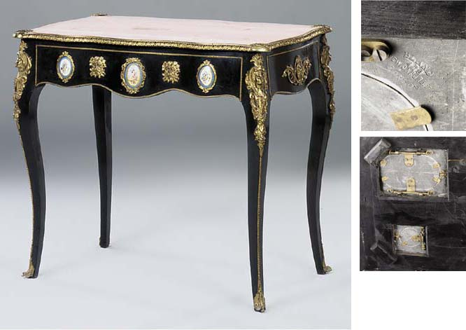 A French gilt metal mounted, p