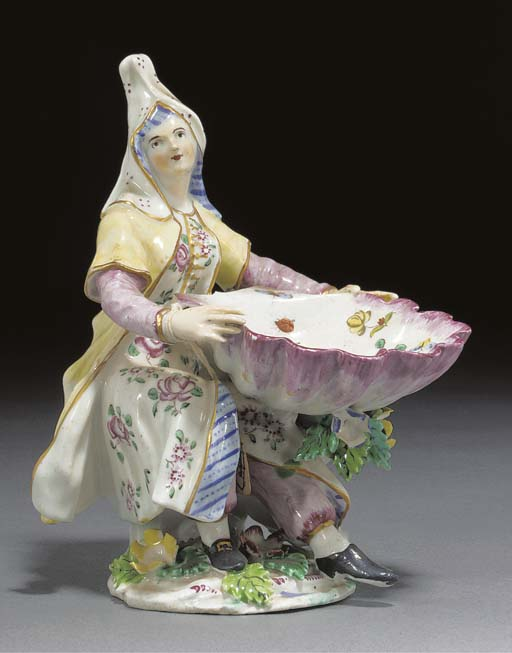 A Bow sweetmeat figure of a Le
