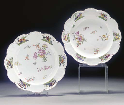 A pair of Chelsea lobed plates