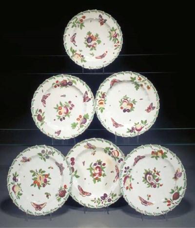 Six Chelsea plates