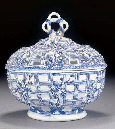 A Derby blue and white bowl an