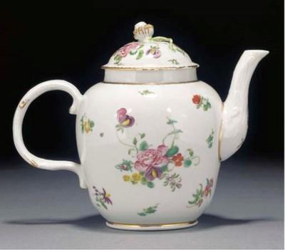 A Bristol oviform teapot and c
