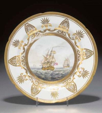 An English porcelain plate