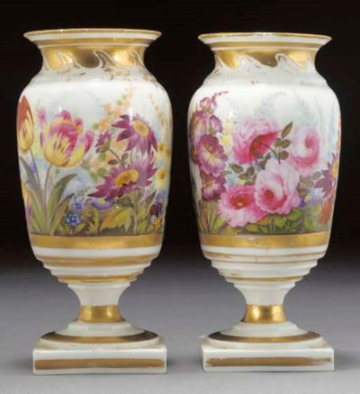 A pair of English porcelain ov