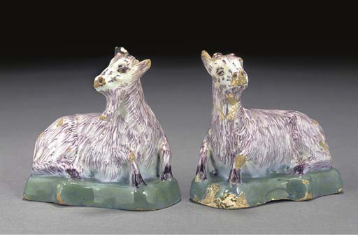 A pair of Delft polychrome mod