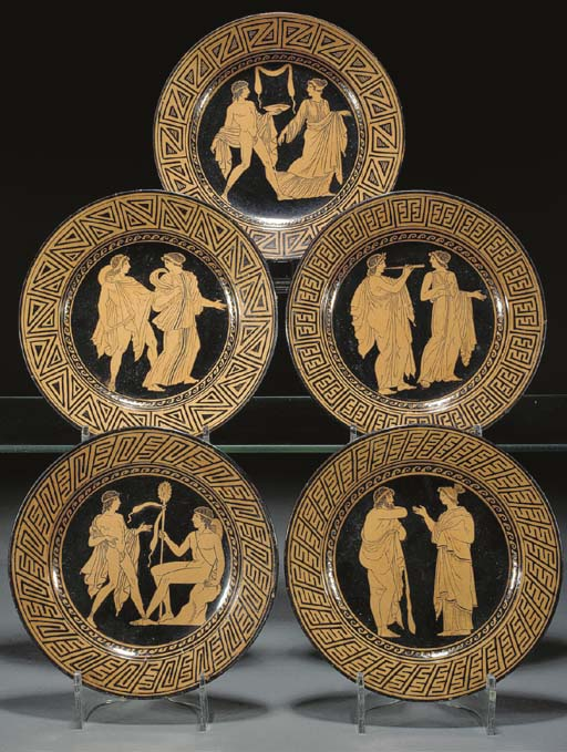 Five Naples (Gustiniani) plate