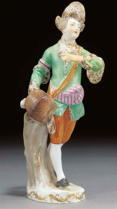 A Vienna figure of a youth