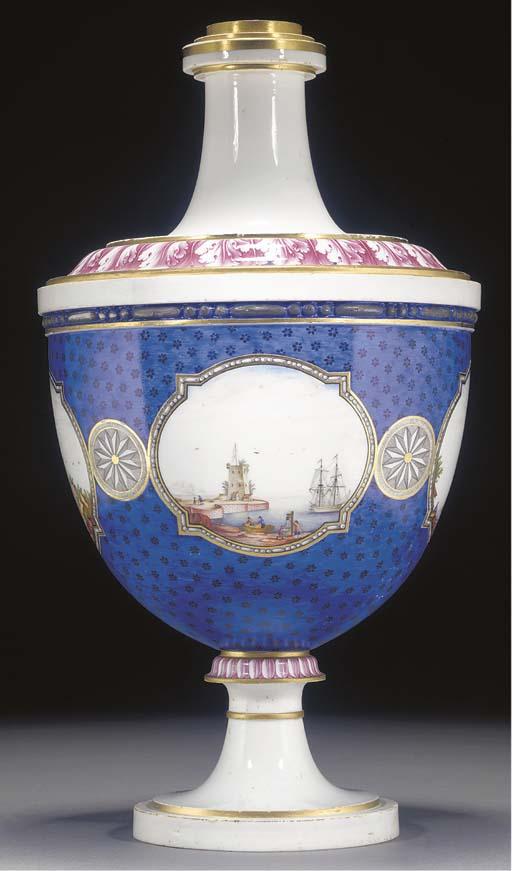 A Niderviller urn-shaped vase